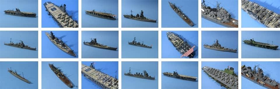 1/700連合艦隊模型のサムネイル写真を一覧化した画像