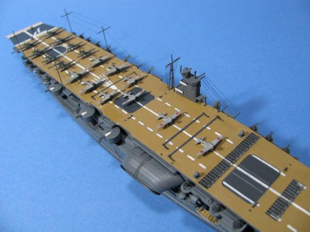 空母赤城飛行甲板中央部分