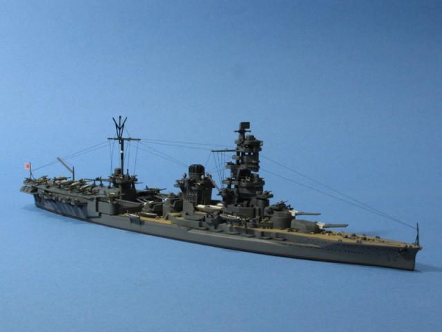 航空戦艦伊勢右舷前方より