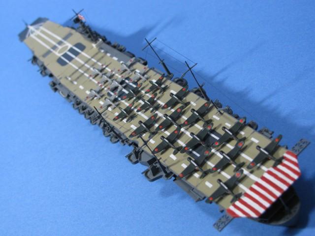 翔鶴飛行甲板後方上空より