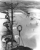 隼鷹飛行甲板前方の写真
