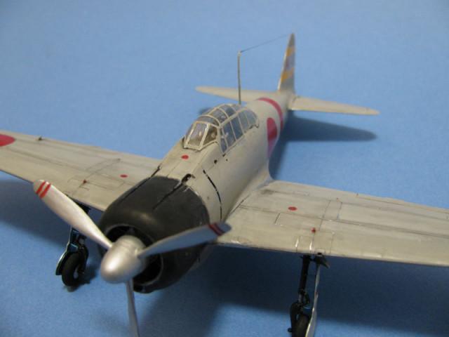 零戦21型胴体部分拡大